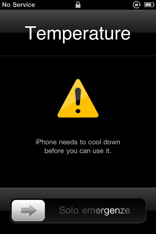 overheated iphone but cold to the touch :(