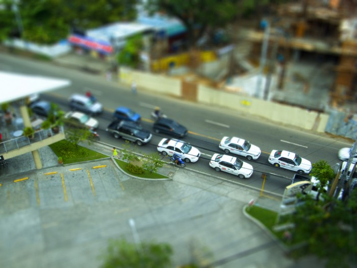 Toy Cars outside Golden Prince Hotel